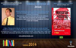 Feira do Livro de Turim recebe Valdeck Almeida de Jesus