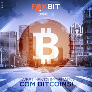 Imagem de propaganda da parceria FOXBIT e URBE.ME.a