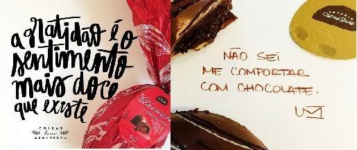 Cacau Show Mistura Chocolates E Poesia Em Postagens De
