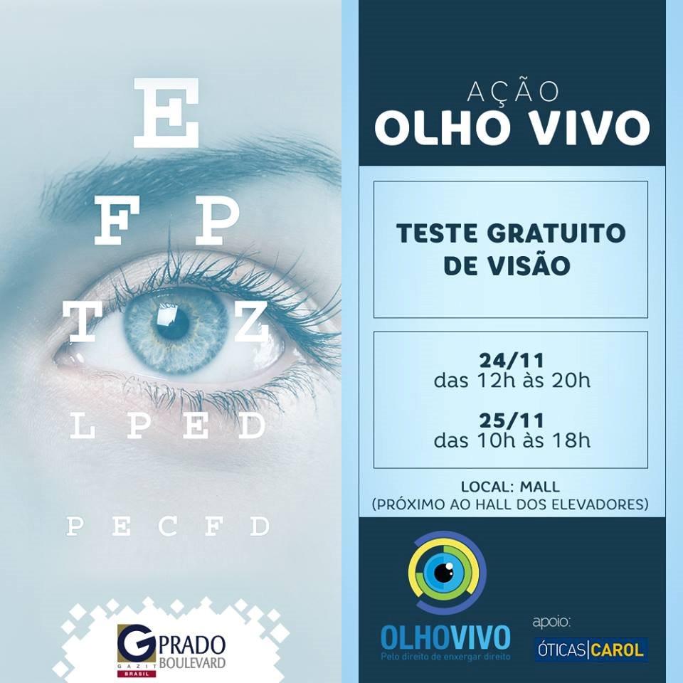 cfe357e6a8900 A iniciativa da Fundação Abióptica realizará, gratuitamente, avaliação de  acuidade visual na população.