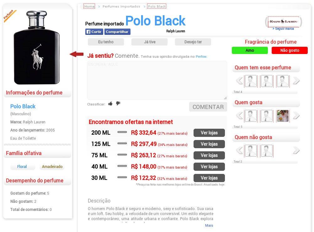0d133fe0c Perfow compara preços de perfumes importados buscando as melhores promoções  nas lojas online.